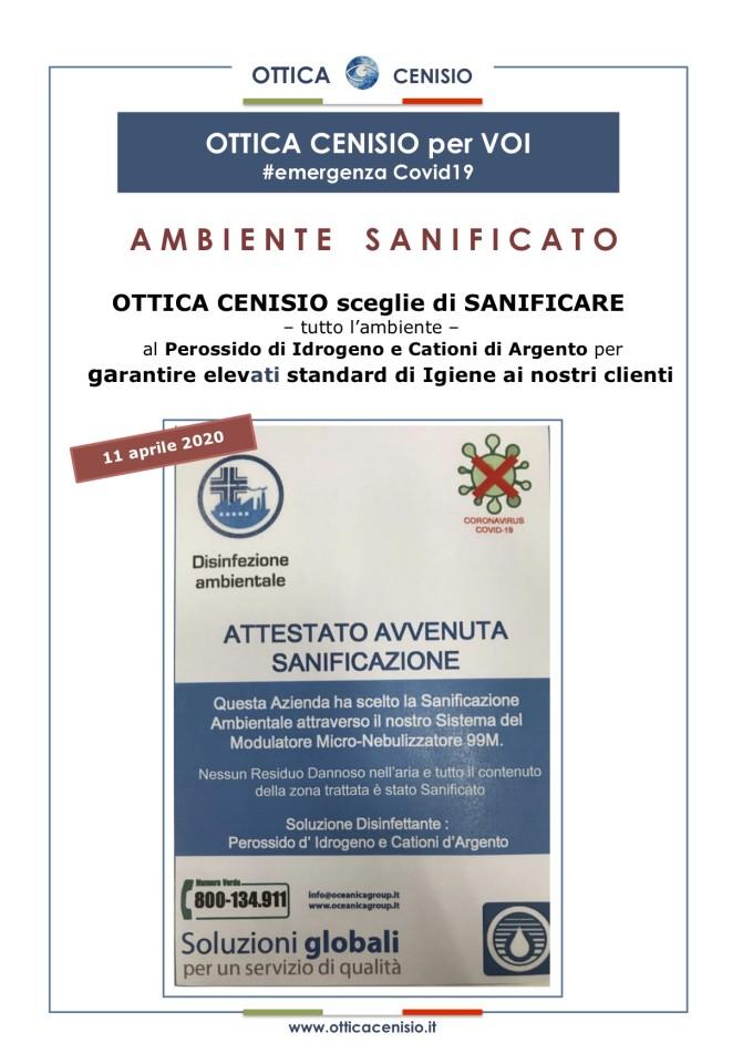 OC emergenza Covid19 AMBIENTE SANIFICATO